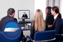 tennessee businesspeople participating in a video conference